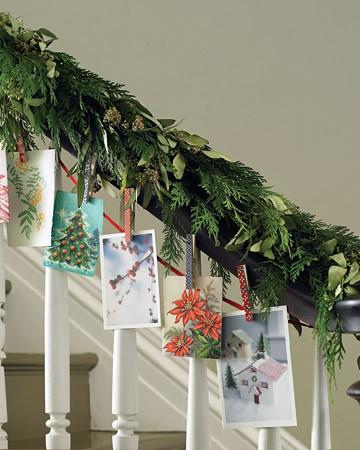 The zhush holiday card display ideas - Christmas card display ideas ...