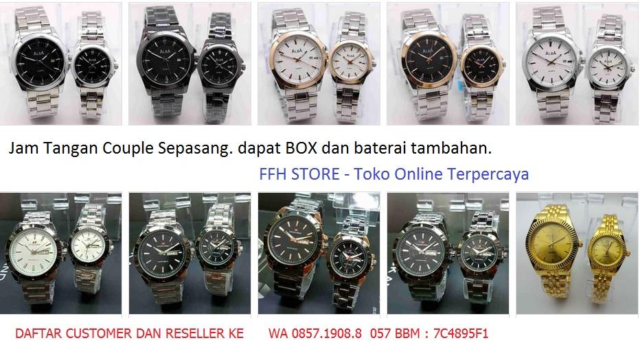 jam tangan keren couple sepasang ffh store murah