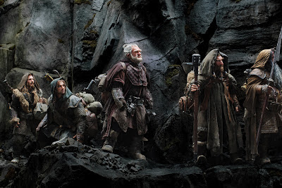 the hobbit an unexpected journey, dwarves walk through the mountains, directed by Peter Jackson