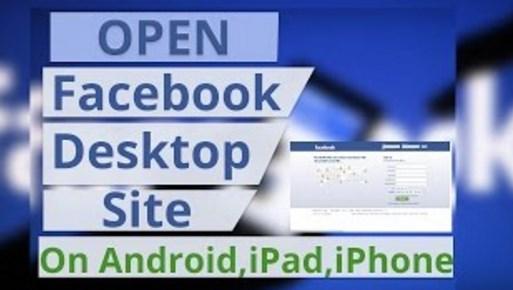 facebook desktop mode on mobile