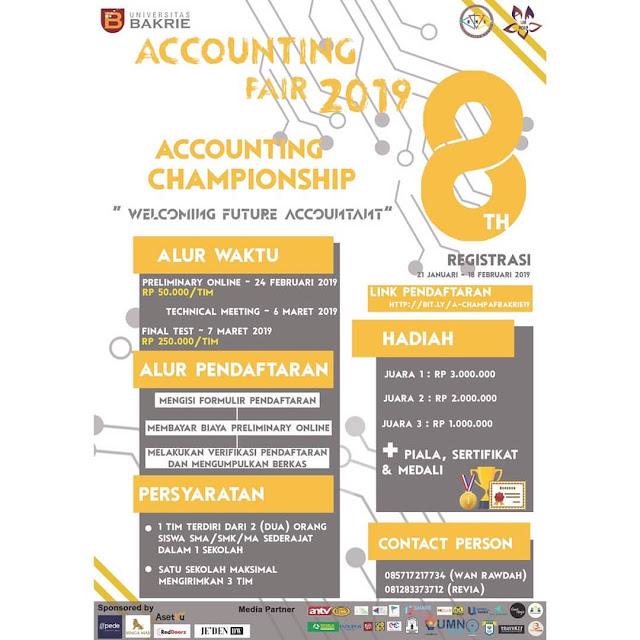 Lomba Akuntansi Nasional SMA Sederajat Accounting Fair 8th 2019