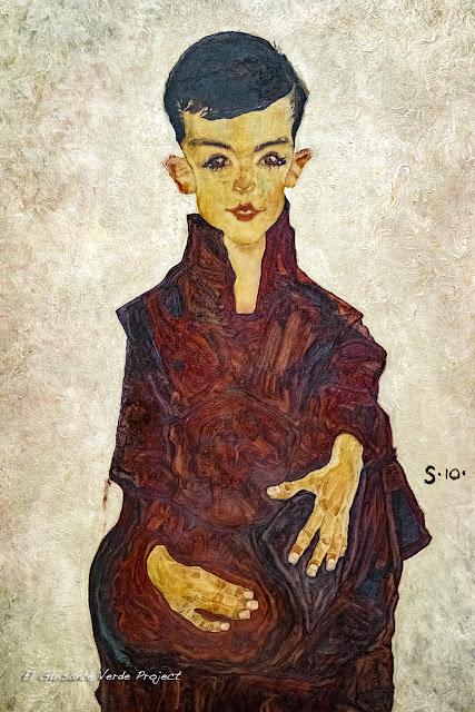 Egon Schiele: Retrato de Herbert Reiner - Belvedere Museum, Viena por El Guisante Verde Project