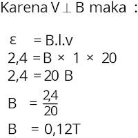 Jawaban soal fisika tentang induksi elektromagnetik nomor 2