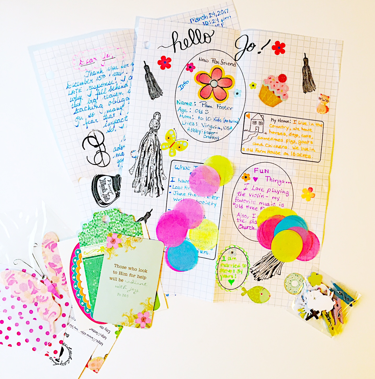 The Lost Art of Letter Writing...Revived!: Some Cute Spring Envelopes....