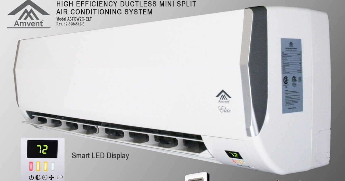 Best Buy Amvent 12000 Btu 1 Ton Ductless Wall Mount Mini