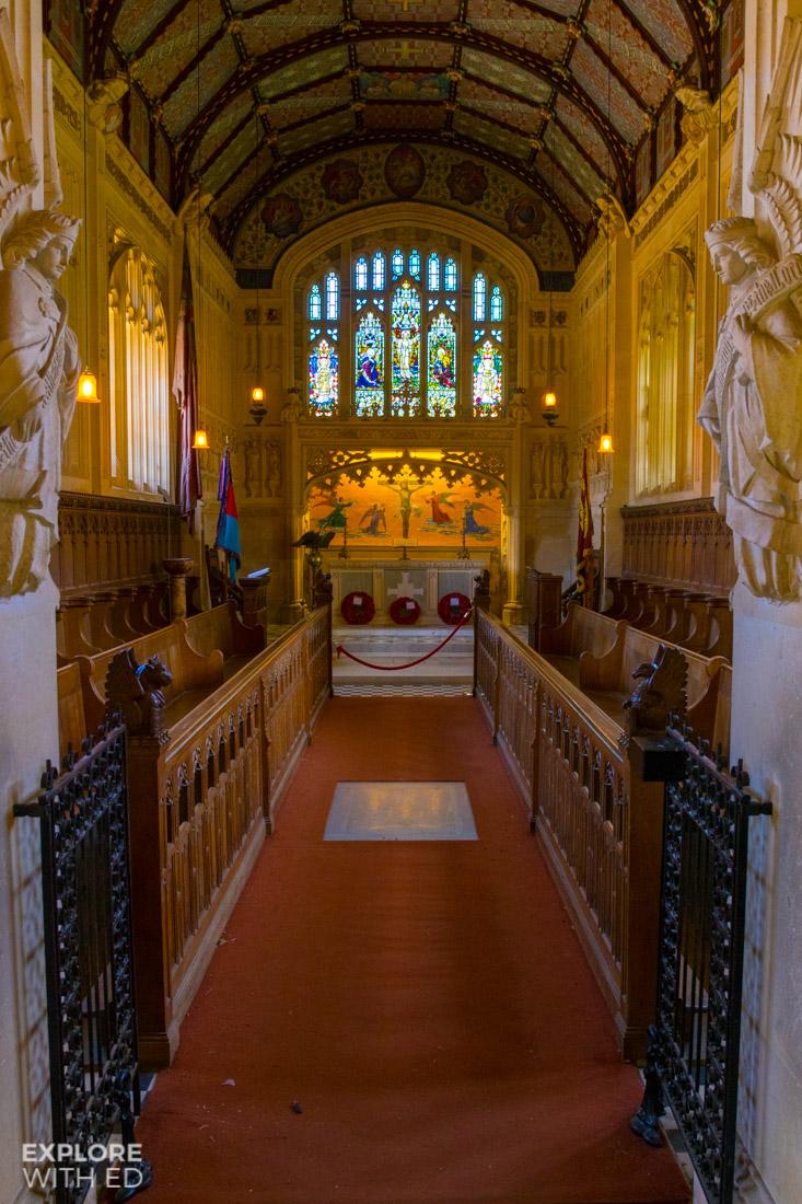 Charles I chapel in Carisbrooke Castle