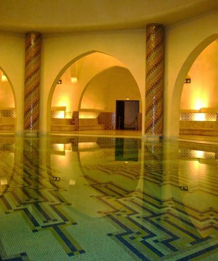Łaźnia turecka. Meczet Hassana II Casablanca