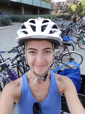 Cycliste, parc de vélos, bicyclettes, Montréal