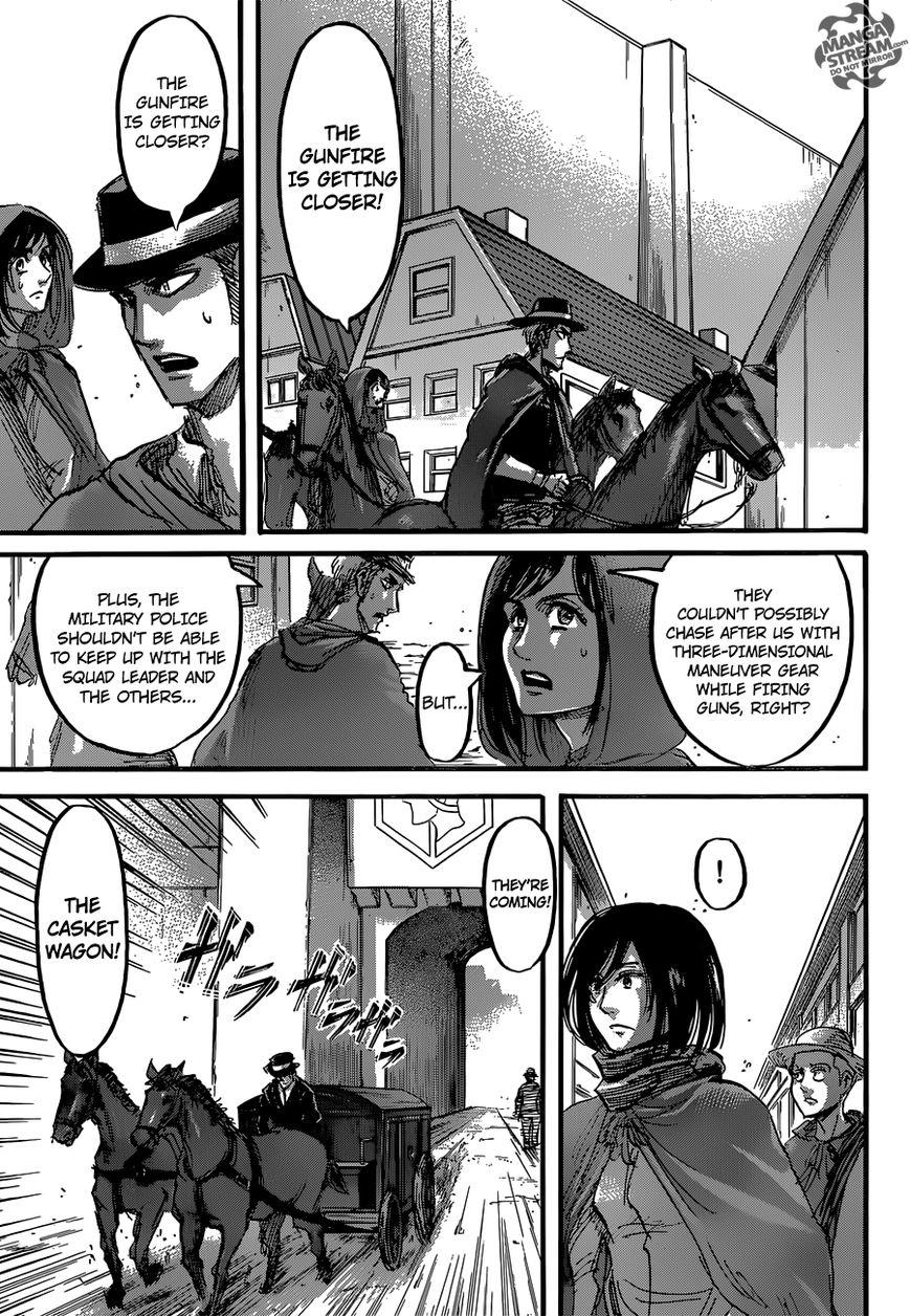 Shingeki no Kyojin Ch 58: Gunfire
