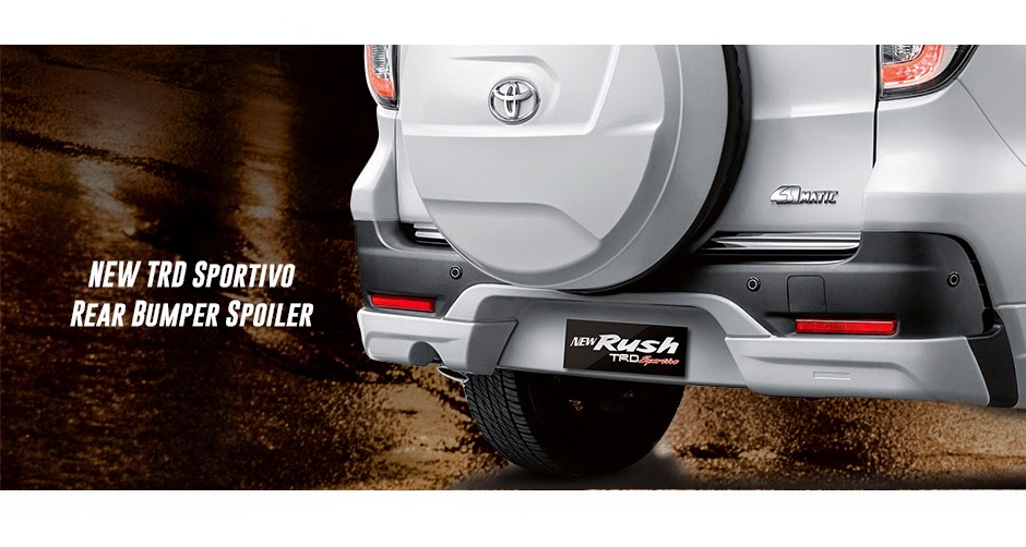 new rush trd rear bumper