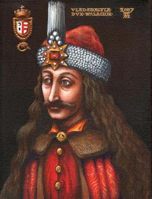 Biografi Vlad III - Dracula     Vlad III, Pangeran Wallachia (1431 – Desember 1476), dikenal sebagai Vlad Ţepeş atau Dracula (dalam Bahasa Indonesia seringkali diubah menjadi Drakula), adalah pangeran Wallachia yang berkuasa pada tahun 1448, lalu pada 1456 hingga 1462 dan pada tahun 1476. Dalam sejarah, Vlad terkenal akan perlawanannya terhadap ekspansi Kesultanan Utsmaniyah dan hukuman kejam yang ia berlakukan pada musuh-musuhnya. Vlad III terkenal karena menginspirasi nama karakter vampir pada novel Bram Stoker tahun 1897, Drakula.  Vlad dilahirkan pada bulan November atau Desember 1431 di benteng Schäßburg, Transilvania, Kerajaan Hongaria di Rumania sekarang. Ayahnya, Vlad II adalah gubernur militer di Transylvania. Ayah Dracula adalah seorang panglima militer yang lebih sering berada di medan perang ketimbang di rumah. Ia diangkat oleh Raja Honggaria, Sigismund dan dijadikan anggota dari orde naga (dalam bahasa Rumania Dracul berarti Naga). Vlad III yang mewarisi gelar ayahnya otomatis disebut Draculea atau Anak Naga. Dalam bahasa Inggris, Draculea menjadi Dracula. Ibunya adalah seorang putri dari Moldavia. Cneajna, seorang bangsawan dari kerajaan Moldavia. Sang ibu memang memberikan kasih sayang dan pendidikan bagi Dracula. Namun itu tidak mencukupi untuk menghadapi situasi mencekam di Wallachia saat itu. Pembantaian sudah menjadi