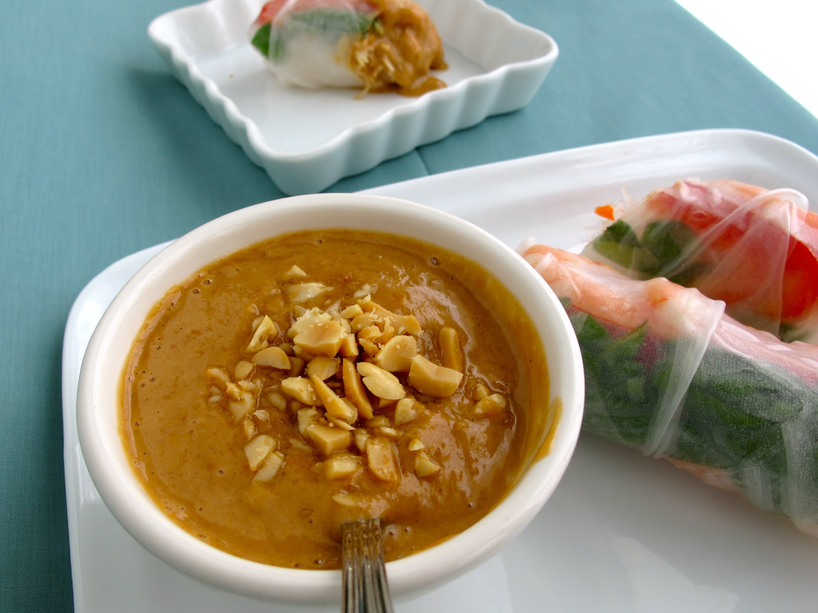 Jenny Steffens Hobick Peanut Dipping Sauce Recipe Recipes Thai Spring Rolls With Simple