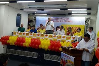 PPS reconduz Nonato Bandeira à presidência do partido e anuncia 16 pré-candidatos a deputado.
