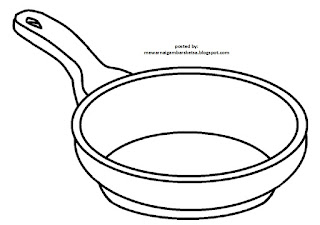 Gambar Sketsa Peralatan Dapur Mewarnai Contoh