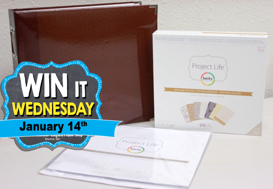 Winner receives Project Life by Becky Higgins Scrapbooking Kit