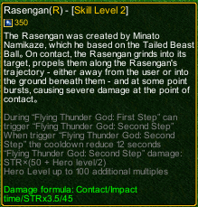 naruto castle defense 6.0 Rasengan detail