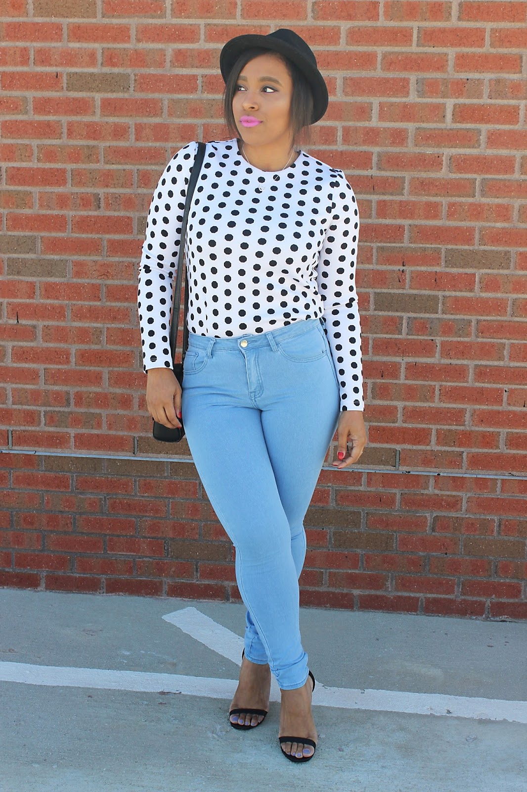 boho, forever21, polka dots, high waisted, denim