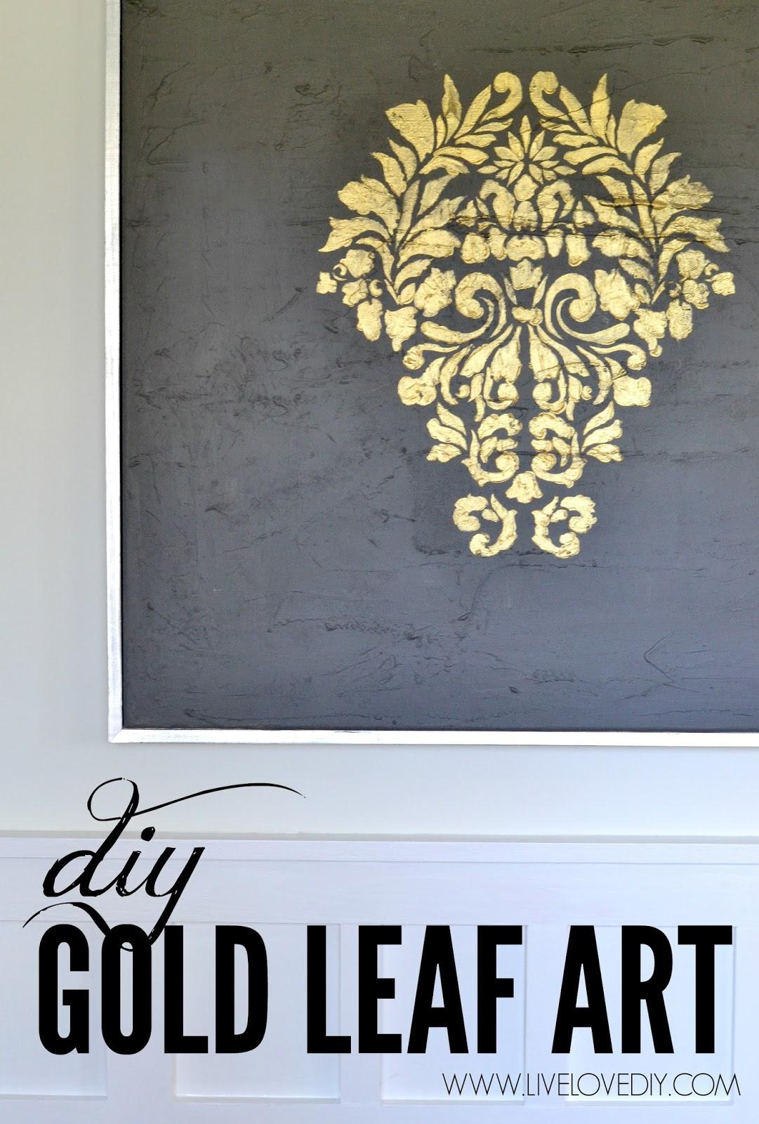 Diy Gold Leaf Painting