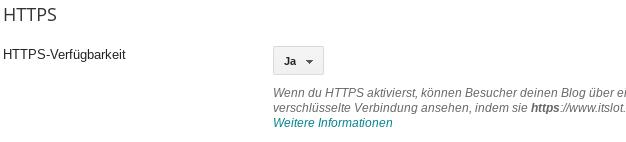 Blogspot Blog auf HTTPS umstellen