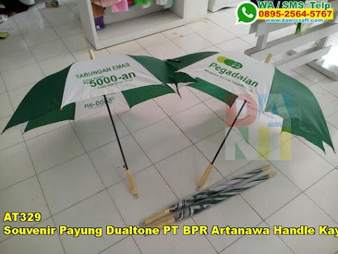Jual Souvenir Payung Dualtone PT BPR Artanawa Handle Kayu