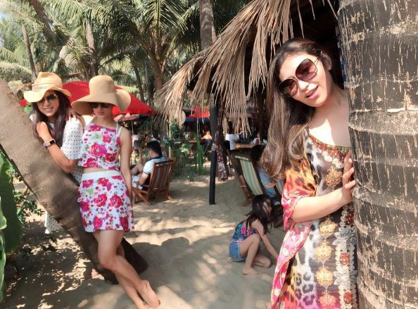 Mouni Roy On Tour Chilling