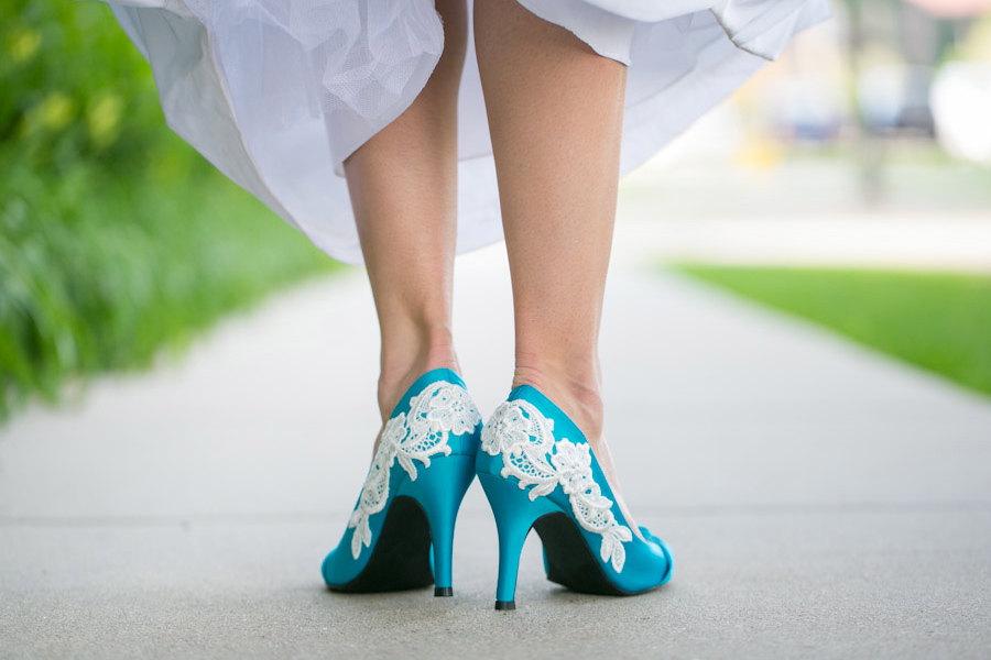 Etsy Wedding Shoes Blue