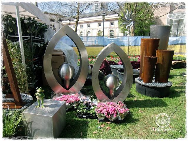 Gartenblog Topfgartenwelt Gartenmesse Blühendes Österreich 2017: Springbrunnen