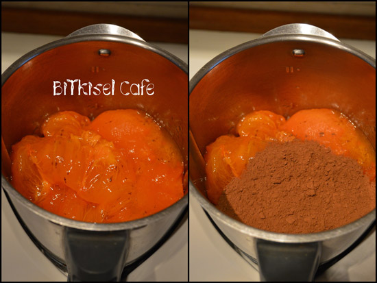 preparing 2-Ingredient Chocolate Pudding with Thermomix