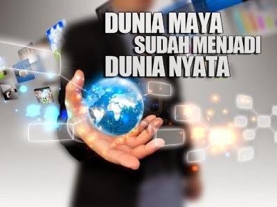 Damai di  dunia nyata dan dunia maya