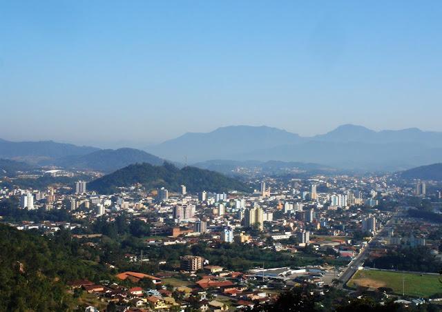 Imagem aérea de Jaraguá do Sul