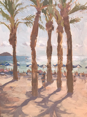 #219 'Palms, Villa Joyosa' 9×11″