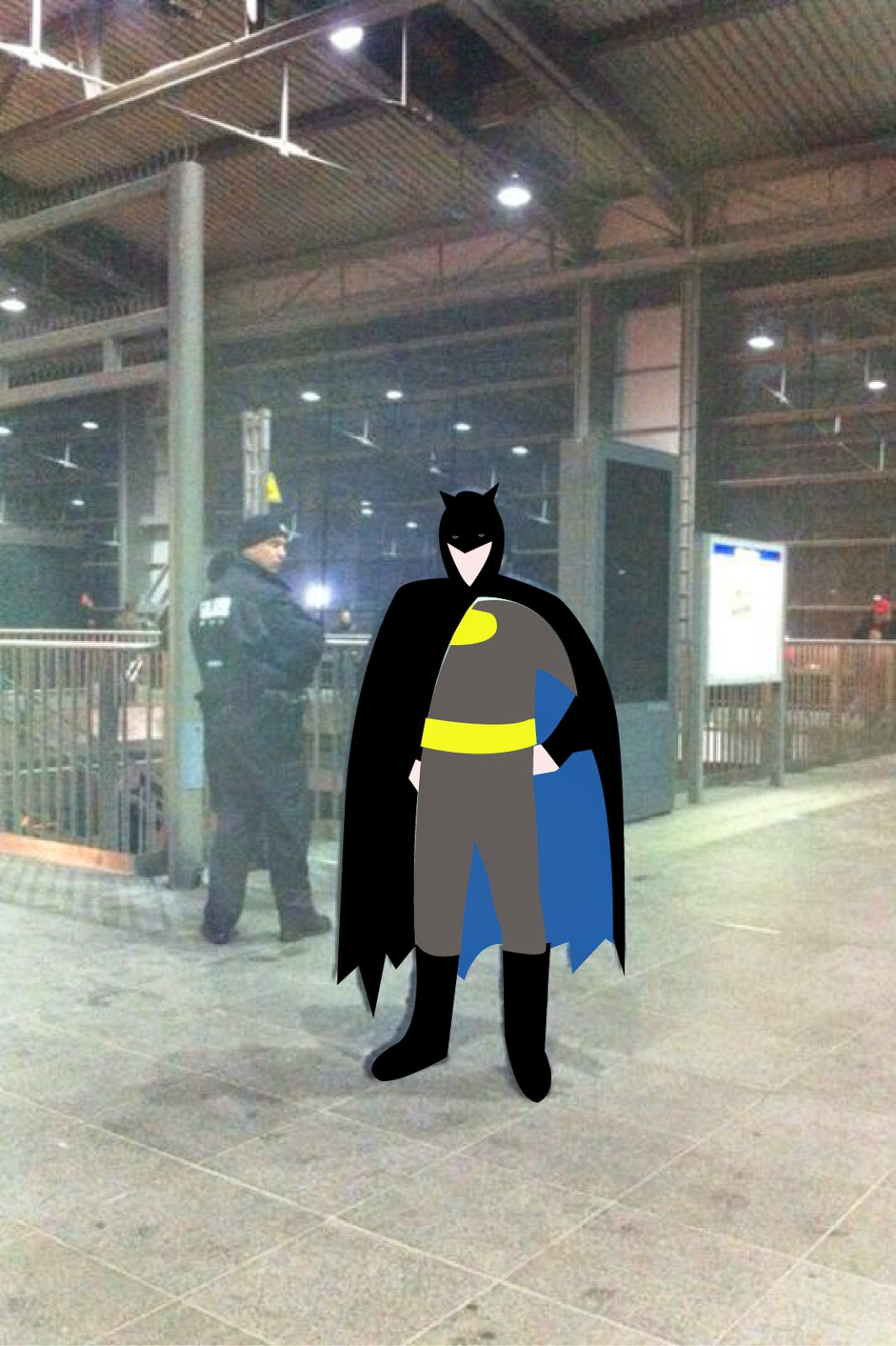 Maskworld Batman in Berliner U-Bahn Kostüm in U-Bahn Berlin ist verrückt Yolo Berlin Das Leben ist kein U-Bahnhof