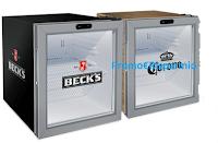 Logo Beck's, Corona, Leffe,Tennent's : vinci 100 Minifrigo