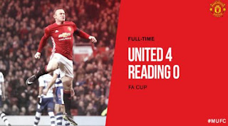 Manchester United Hantam Reading 4-0  (Video Gol)