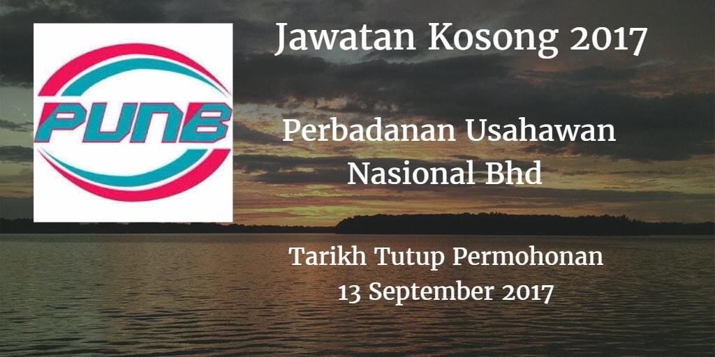 Jawatan Kosong PUNB 13 September 2017