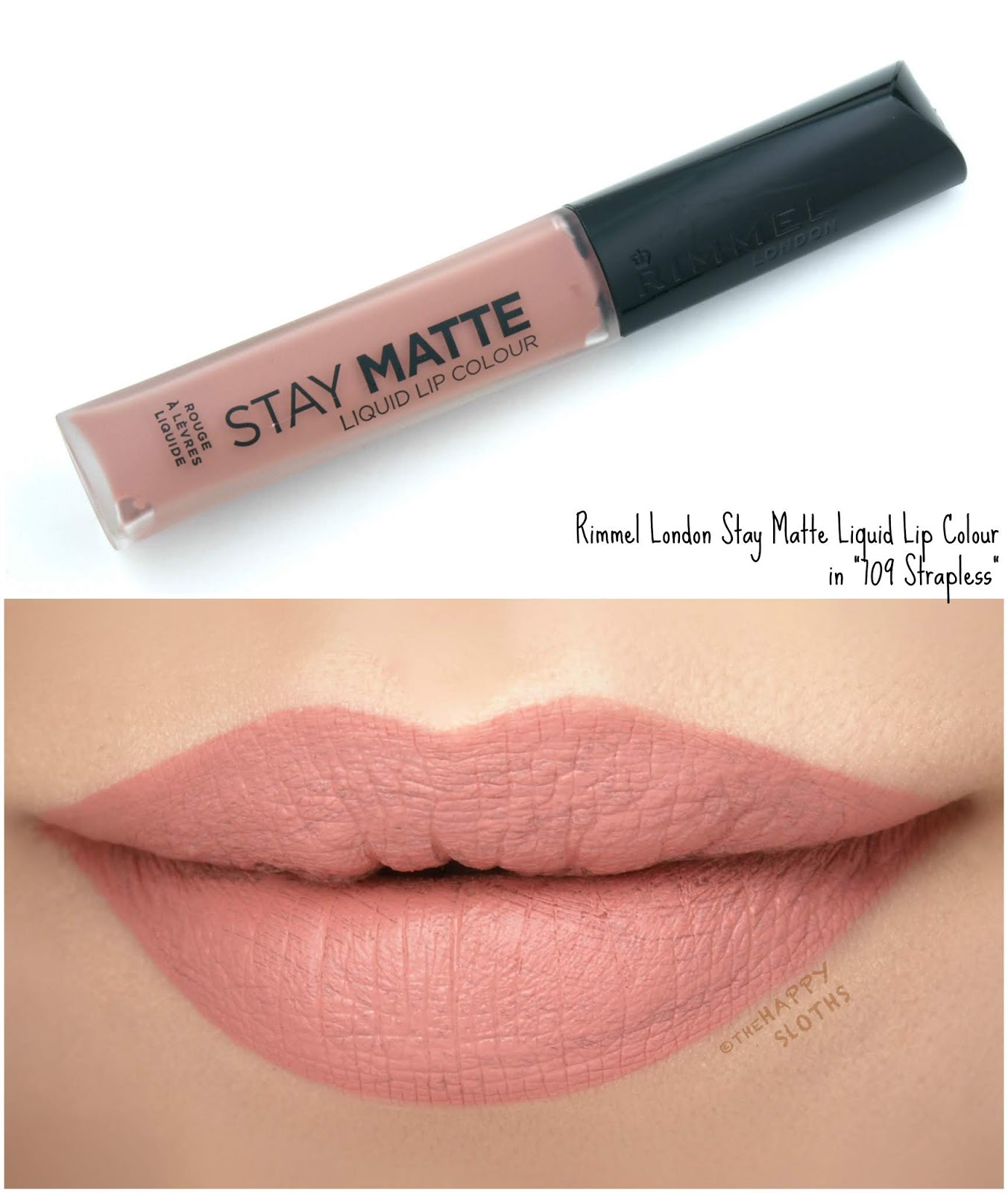 "Rimmel London | Stay Matte Liquid Lip Colour in ""709 Strapless"": Review and Swatches"
