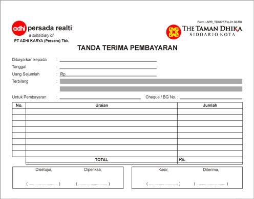 Percetakan Nota Faktur Jatake Tangerang Cetak Form Tanda