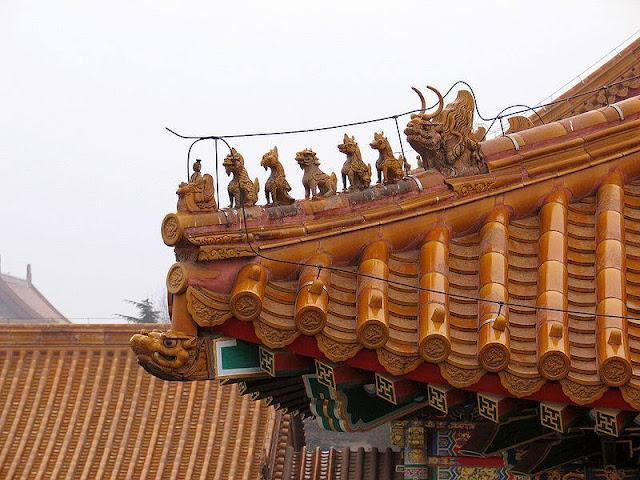 Decoración de los edificios de la Ciudad Prohibida (Beijing) (@mibaulviajero)