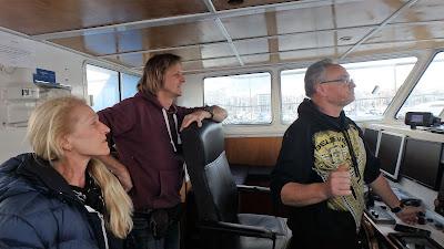 Pescaturismo Mallorca Los turistas en el puente de mando