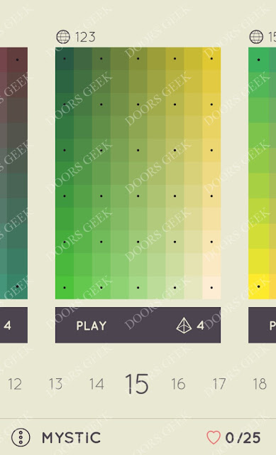 I Love Hue Mystic Level 15 Solution, Cheats, Walkthrough