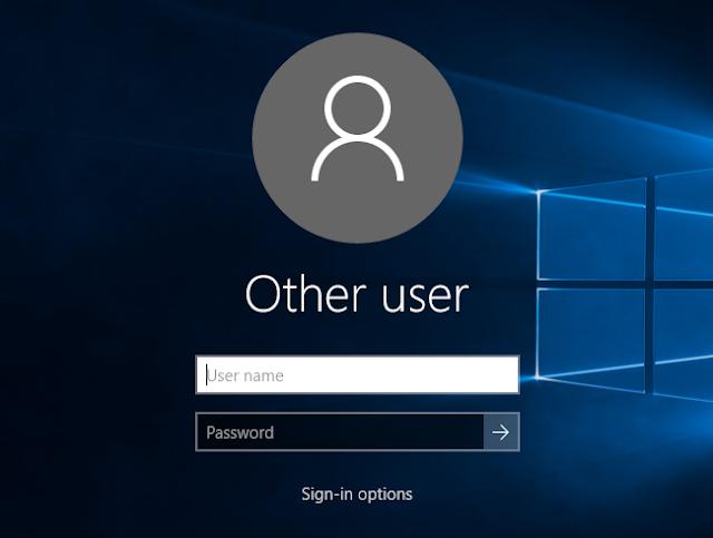 اخفاء البريد الالكتروني واسم المستخدم من شاشة تسجيل الدخول في ونداوز 10