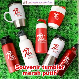 Souvenir Tumbler Cinta Indonesia, Tempat Minum Anak Merah Putih, independence tumbler, BOTOL MINUM MERAH PUTIH, Botol minum outdoor putih atau merah dengan harga murah