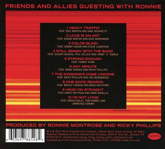 RONNIE MONTROSE feat. Ricky Phillips & Eric Singer - 10x10 (2017) back