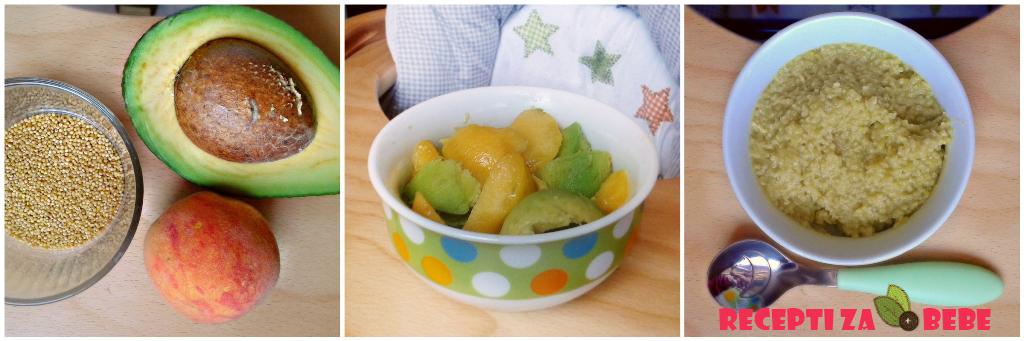 Avokado breskva i proso za bebe