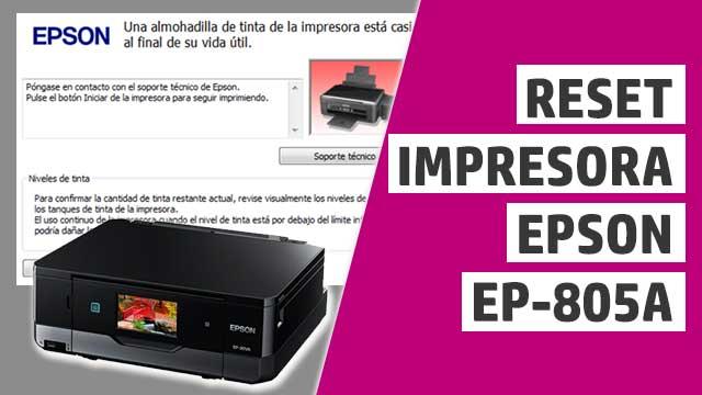 resetear almohadillas impresora Epson EP805A