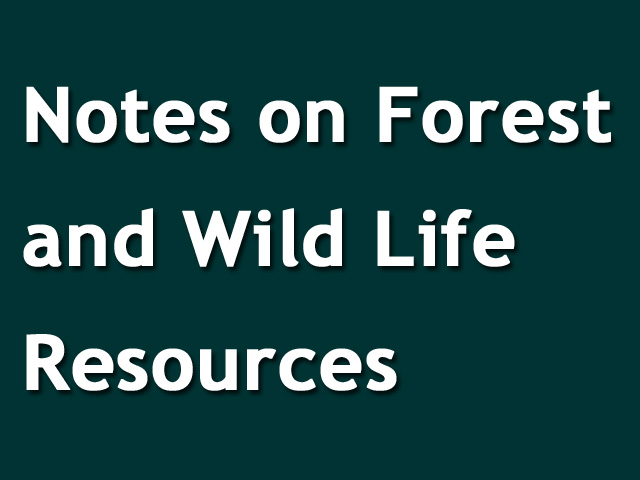 Notes on Forest and Wild Life Resources | CBSE | Class 10
