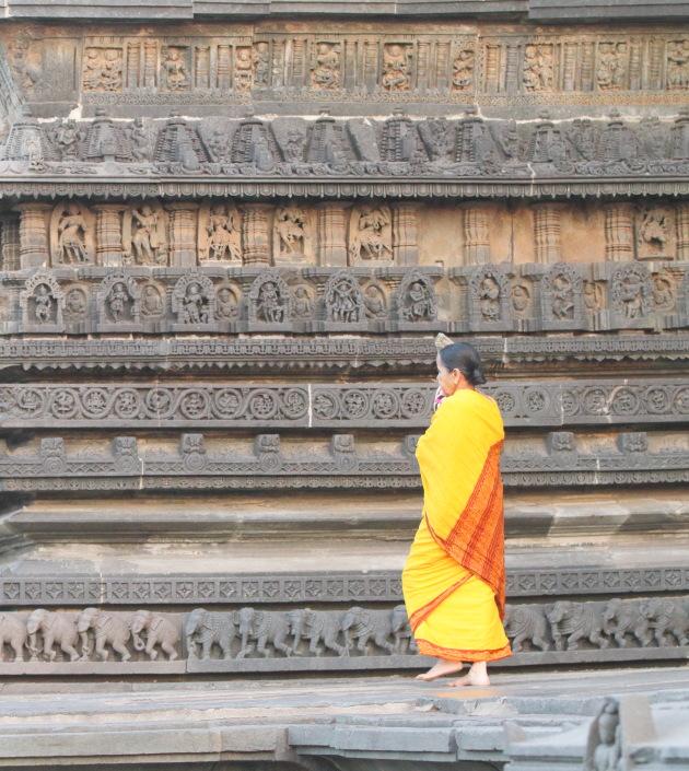 Stunning carvings on the external walls of Channakeshava temple, Belur, Karnataka