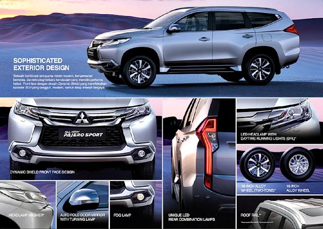 Kelebihan dan FItur Eksterior Mitsubishi All New Pajero Sport 2016