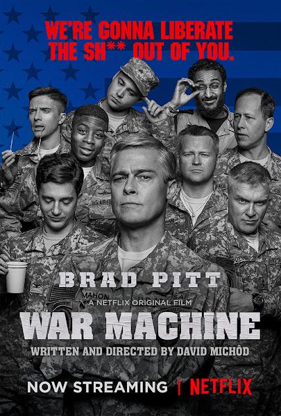 Poster of War Machine 2017 Hindi 720p HDRip Dual Audio With ESubs Download