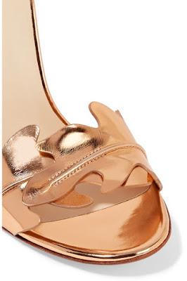 Francesco Russo Metallic Leather High Heel Sandals
